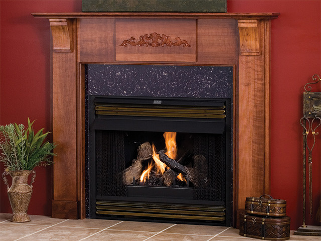 Fulton Wood Fireplace Mantel Traditional Indoor