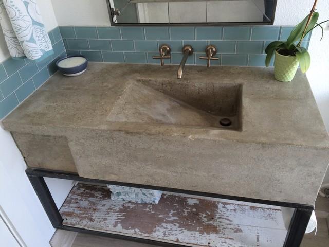 Custom Concrete Sink Modern Austin By Build Austin
