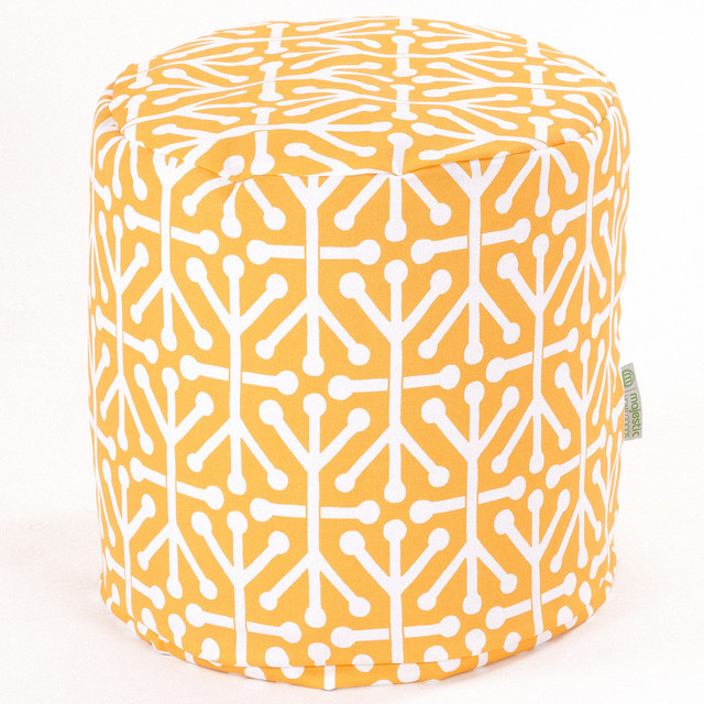 Outdoor Citrus Aruba Small Pouf contemporary-footstools-and-ottomans