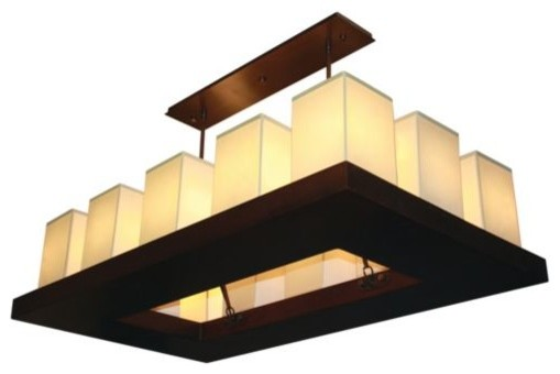 Candela Rectangular Chandelier contemporary chandeliers