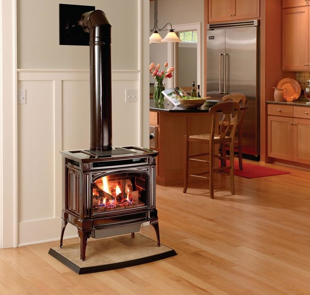 Lopi Berkshire GreenSmart Gas Stove Modern Freestanding Stoves Seattle