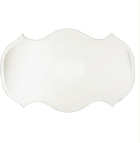 Audrey Frameless Mirror traditional-mirrors