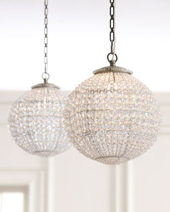 Crystal Ball Pendant - traditional - pendant lighting - by Horchow