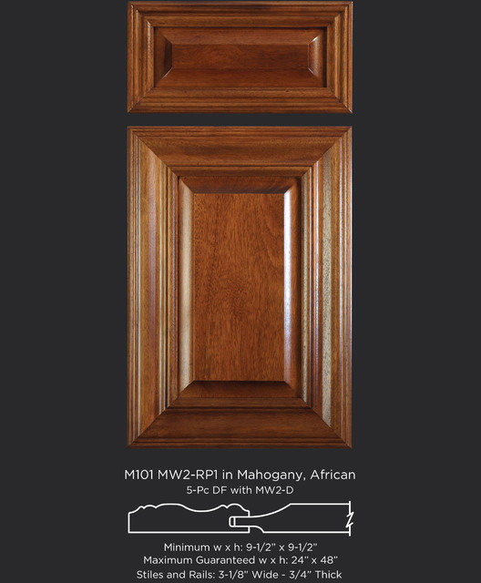 Mitered Cabinet Doors in Mahogany - Traditional - Kitchen ...