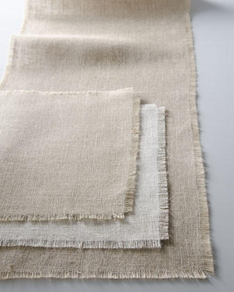 Burlap Table Linens - traditional - table linens - by Horchow