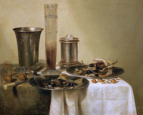 Still Life with Silver Goblets | Willem Claesz Heda | Canvas Print midcentury-prints-and-posters