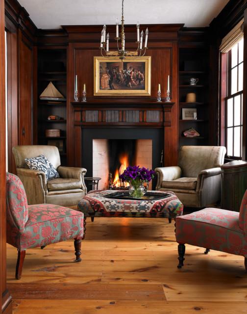 Greek Revival Farmhouse Living Room Burlington By Connor Homes