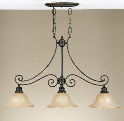 Murray Feiss F2185/3LBR Cervantes Billiard Chandelier - 36.25W in. Liberty Bronz modern-chandeliers