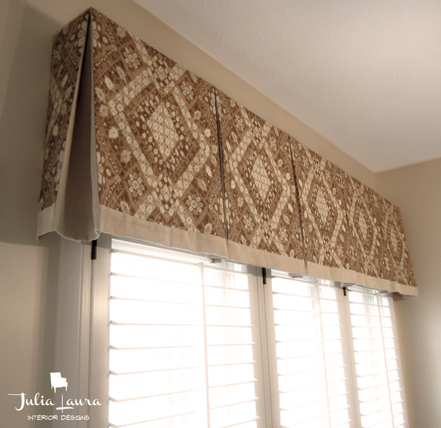 Custom Box Pleat Valance Traditional Indianapolis By