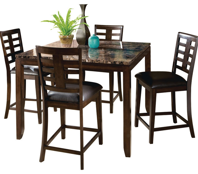 Standard Furniture Pendleton 5 Piece Dining Room Set In: Standard Furniture Bella 5-Piece Counter Height Dining