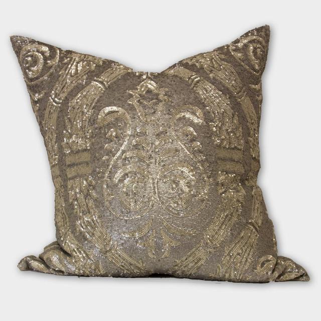 Silver Sequin Pillow decorative-pillows