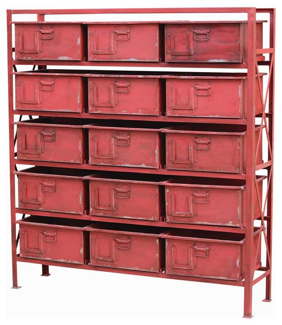 Industrial bedroom dresser