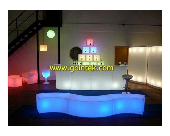 glow light colorful led bar table -