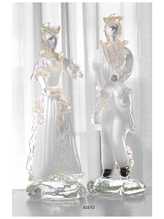 Murano Glass Sculptures and Figurines - Murano Glass Clipper columbine figurines COA and made to order.  More available so please contact us