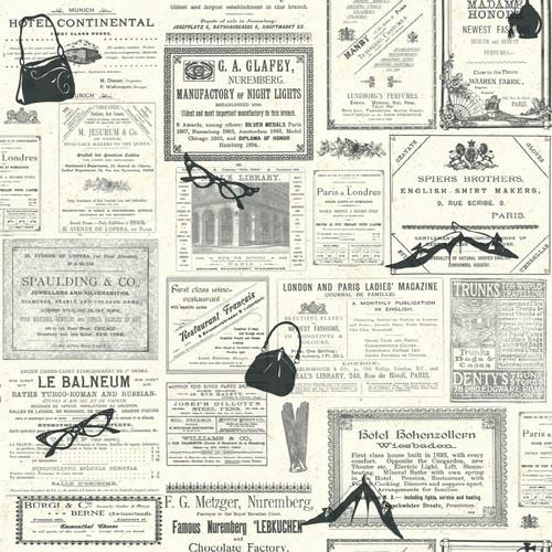 York Wallcoverings Newsprint Accessory Wallpaper eclectic-wallpaper