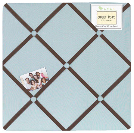 Hotel Blue and Brown Fabric Memo Board contemporary-bulletin-boards-and-chalkboards