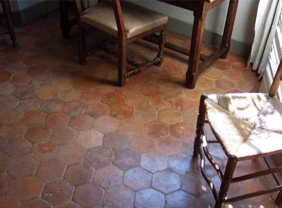 Antique Terracotta Flooring- Hexagones- Francois & Co. wall-and-floor-tile