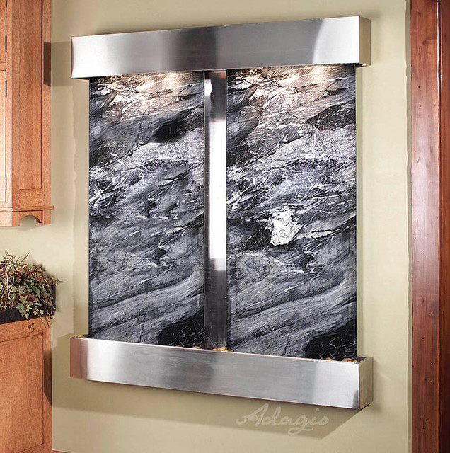 Indoor Wall Waterfalls : Indoor Wall Fountains - Contemporary - Indoor Fountains - other metro ...