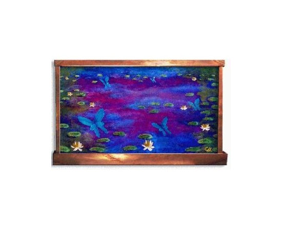 Hand Painted Wall Mounted Water Features -