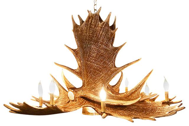 rustic moose 6 antler chandelier with 9 candle lights and. Black Bedroom Furniture Sets. Home Design Ideas