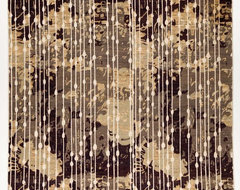 Silk Oriental Runner Rug without Borders Multi-Colored with Ivory 8x12.11 traditional-rugs