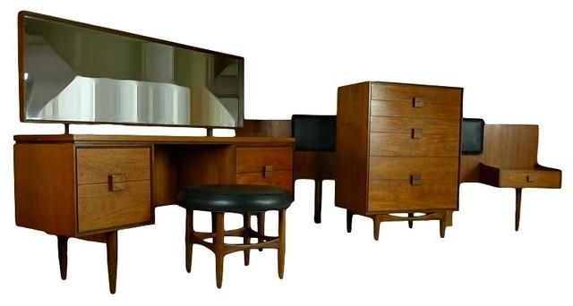 Mid Century Modern 4 Piece Bedroom Suite By Kofod Larsen Midcentury Beds Atlanta By