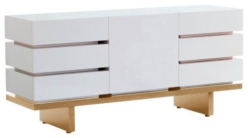 Nurseryworks Three Wide Dresser - Plain/Light contemporary-dressers-chests-and-bedroom-armoires