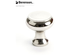 4150-1014-P  Polished Nickel Knob by Berenson Hardware transitional-cabinet-and-drawer-knobs