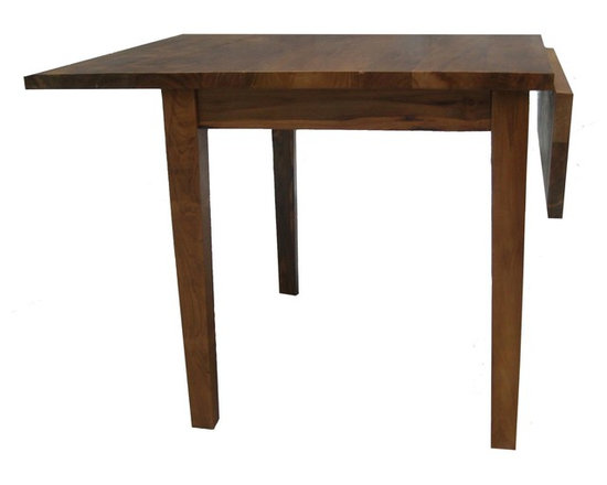Teak Me Home - Drop-Leaf Dining Table - Reclaimed Teak - The reclaimed Teak used in this piece is approximately 100 years old and was salvaged from an old house being demolished.