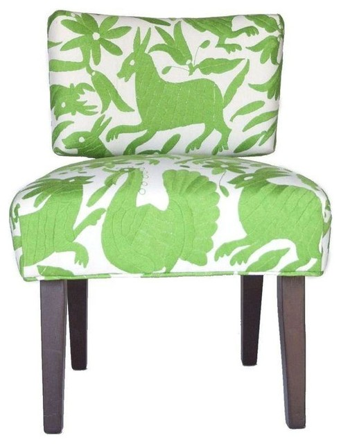 lime green otomi upholstered chair modern armchairs and accent chairs by chairish. Black Bedroom Furniture Sets. Home Design Ideas