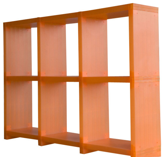 Cubitec Shelving Solution, Trans. Orange storage-units-and-cabinets