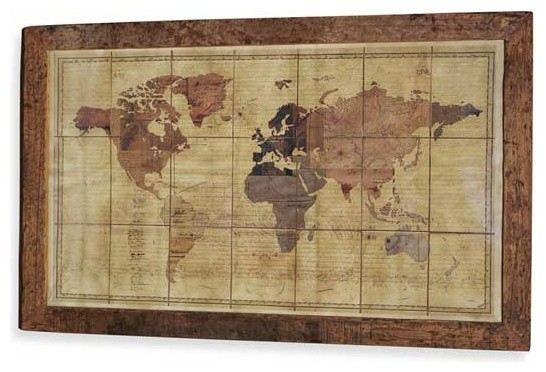 Interlude Home Magnus Exploration World Map traditional-prints-and-posters