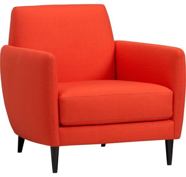 Parlour Atomic Orange Chair Midcentury Armchairs And Accent Chairs By Cb2
