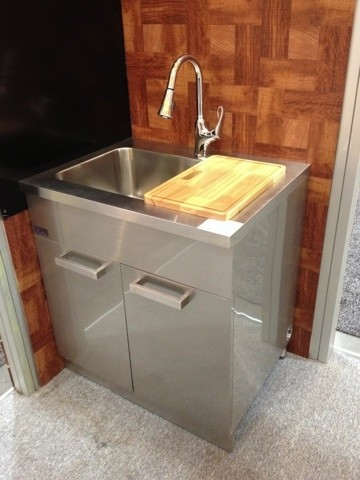Dawn Ssc3036 30 Inch Stainless Steel Sink Cabinet Modern
