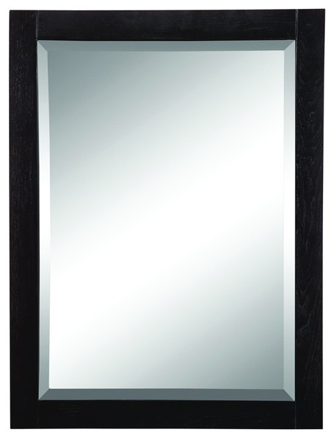 Decolav 9719 bka briana wall mirror in black traditional for Black wall mirror