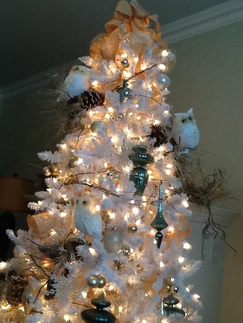 White Christmas tree ideas/colours
