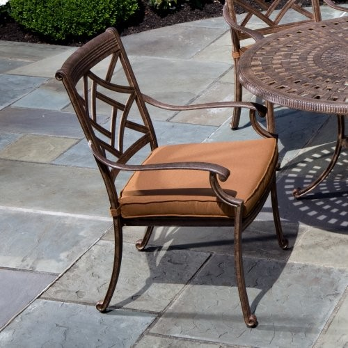 Alfresco Home Sarasota Dining Arm Chair contemporary-outdoor-chairs