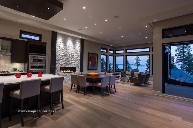 "White Rock Custom Home  ""Planed Dutch #19 Flooring"" contemporary-dining-room"