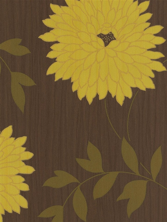 Patricia - Make a bold statement on your walls with this eclectic floral wallpaper from the book Patricia.