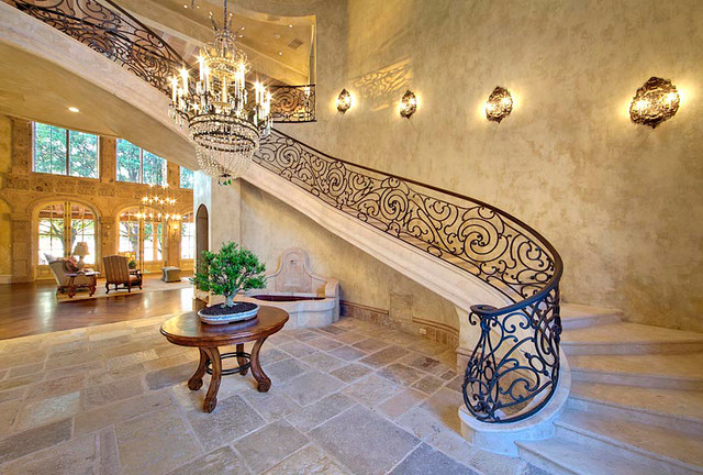 Lighting with architectural stone and antiques (Mediterranean Style) mediterranean