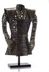 John Richard 42x25x10 Coat Of Armour W/Raffie Accents contemporary-sculptures