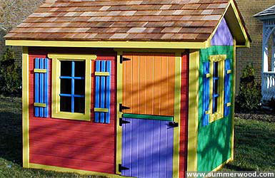 Bear Club Playhouse Kits traditional-outdoor-playhouses