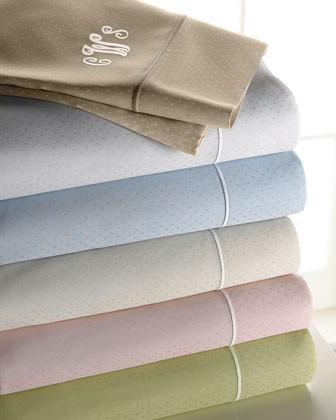 Marcus Collection Dot Sheet Set, Plain traditional-sheets
