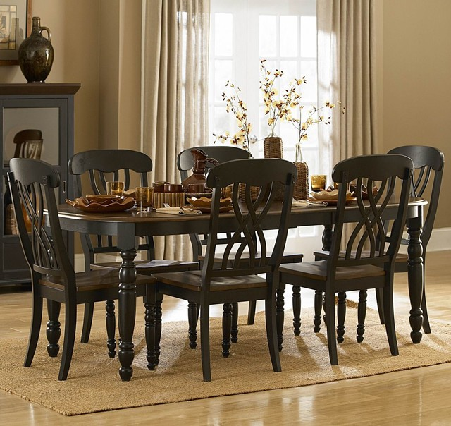 homelegance ohana 5 piece rectangular dining room set in