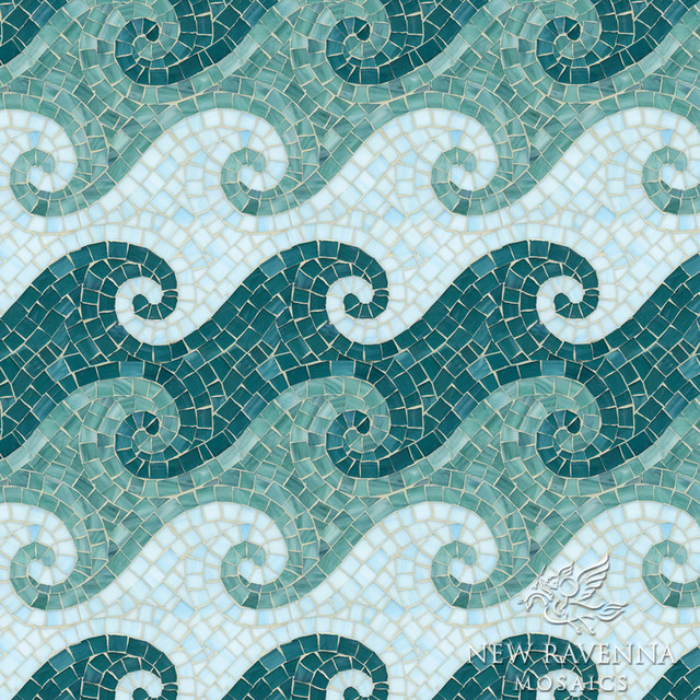 Tethys Jewel Glass Mosaic Tile Other Metro By New