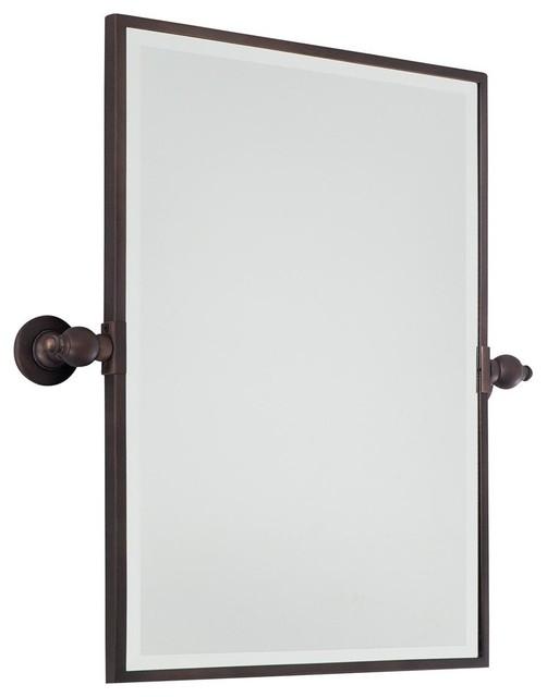 Rectangular Tilt Bathroom Mirror - 3 finishes - Bathroom Mirrors - by Shades of Light