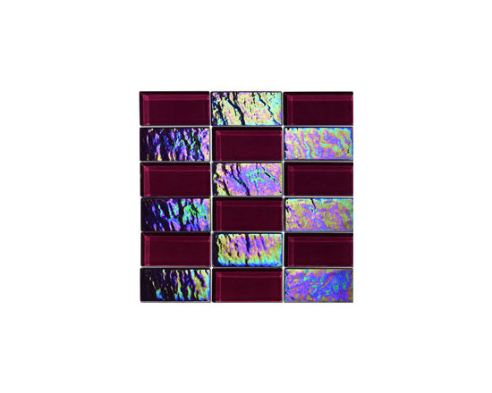 "Alttoglass Precious stone series color Rubi - Alttoglass Precious Stone Runi 12"" x 12"" Glass Mosaic Tile Features: Application: Indoor only, Walls Install Type: Thin-Set Usage: Commercial or Residential Color:Rubi Product Type Mosaic Tile Coverage 1 sq ft Piece(s):11 per Box Material:GlassTile Size:12 x 12 format / Shape Square Tile Use: Wall Series:Precious Stone Brand:Alttoglass Weight: 4.00 lbs Dimensions:Length - 12.00""   Width - 12.00"""