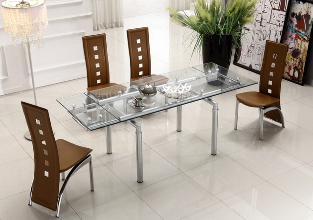 Dining room glass top tables