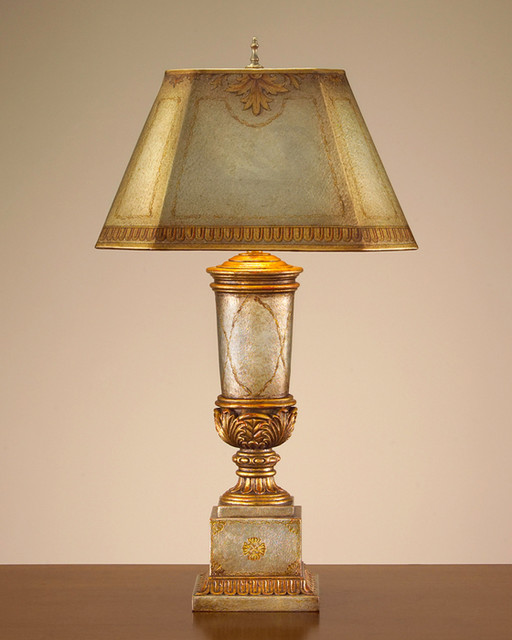 John Richard 29'' Silvered Leather Trophy Lamp contemporary-table-lamps
