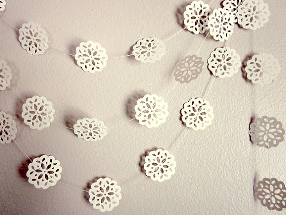 Paper Garland Christmas Snowflakes by Arts Delight traditional holiday decorations